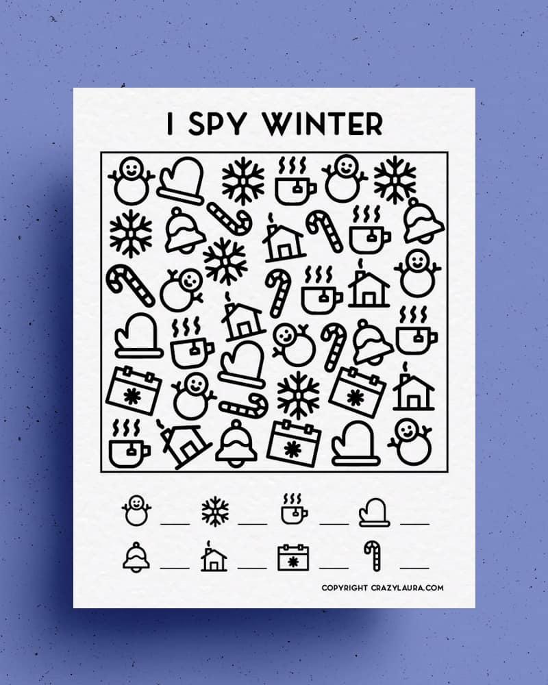 holiday I spy printables to download