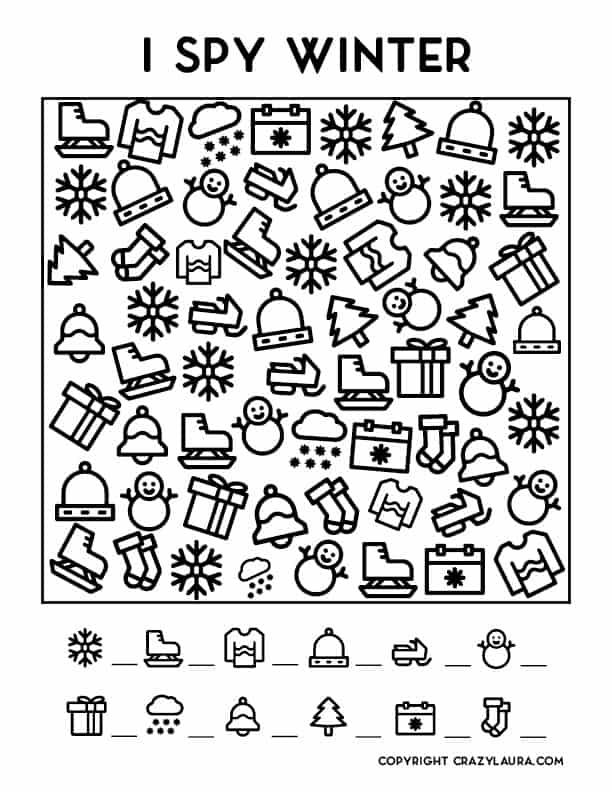 free printable I spy game for kids