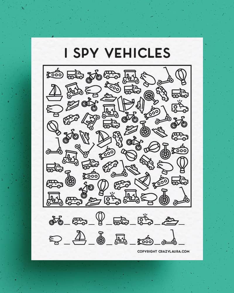 cars i spy activity