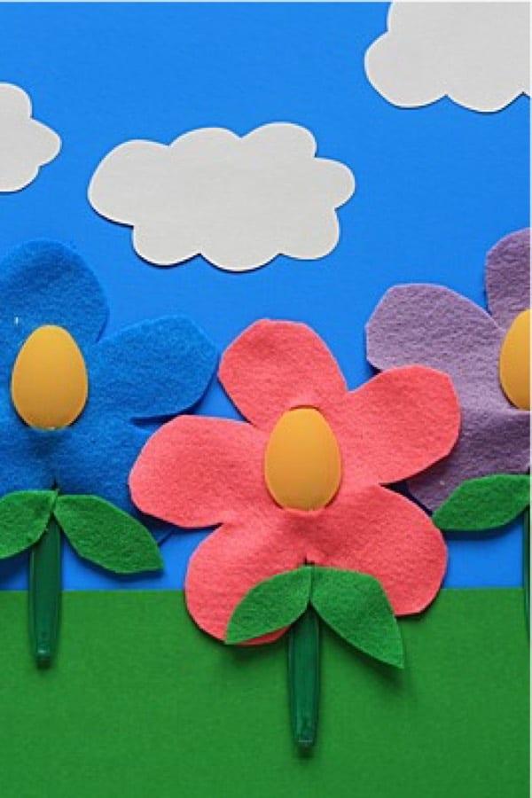 easy summer flower craft tutorial