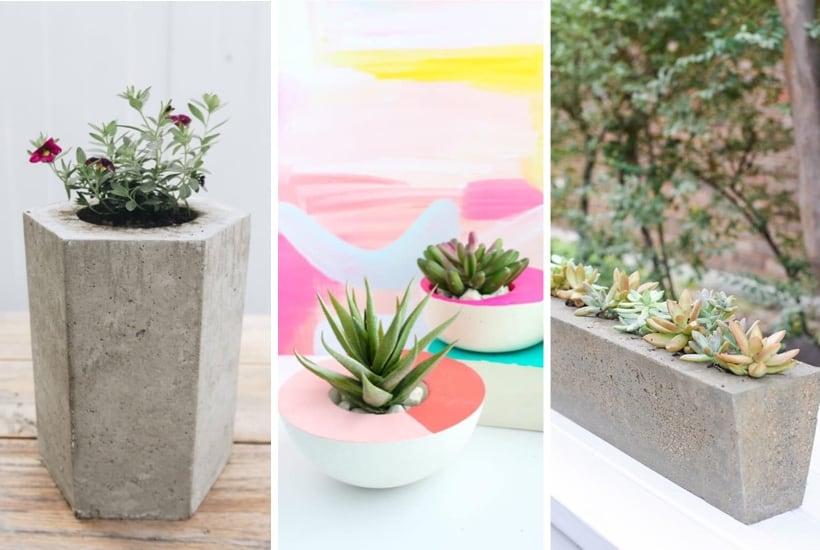 20+ Best DIY Concrete Planters & Tutorials For 2021
