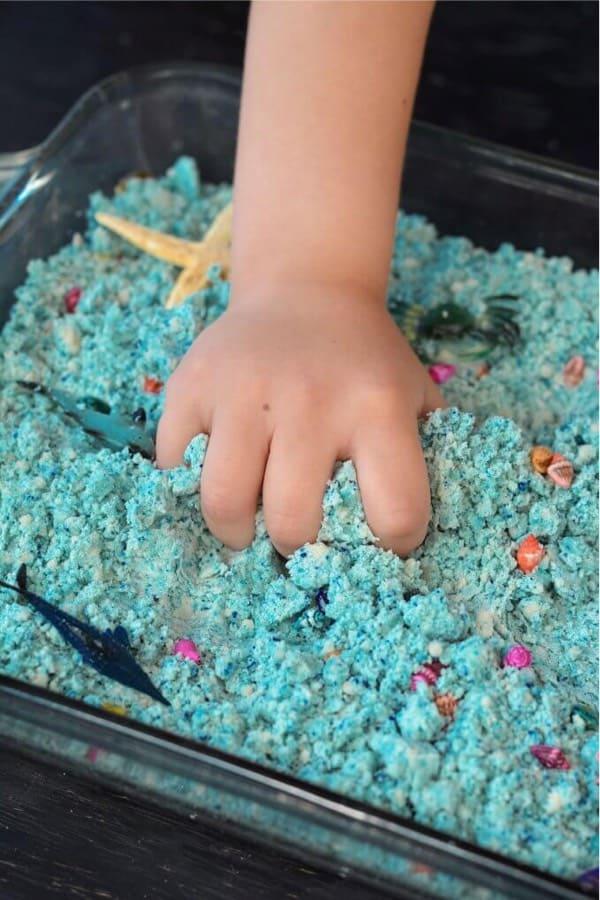 mood sand craft tutorial for kids sensory