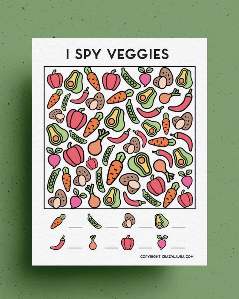 fun and easy i spy veggie printable