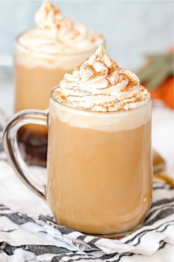 homemade cinnamon latte drink recipe