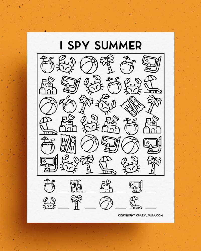 free printable i spy templates