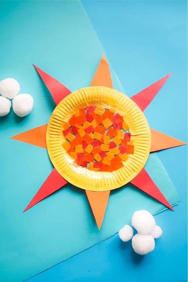 paper plate suncatcher project for summer