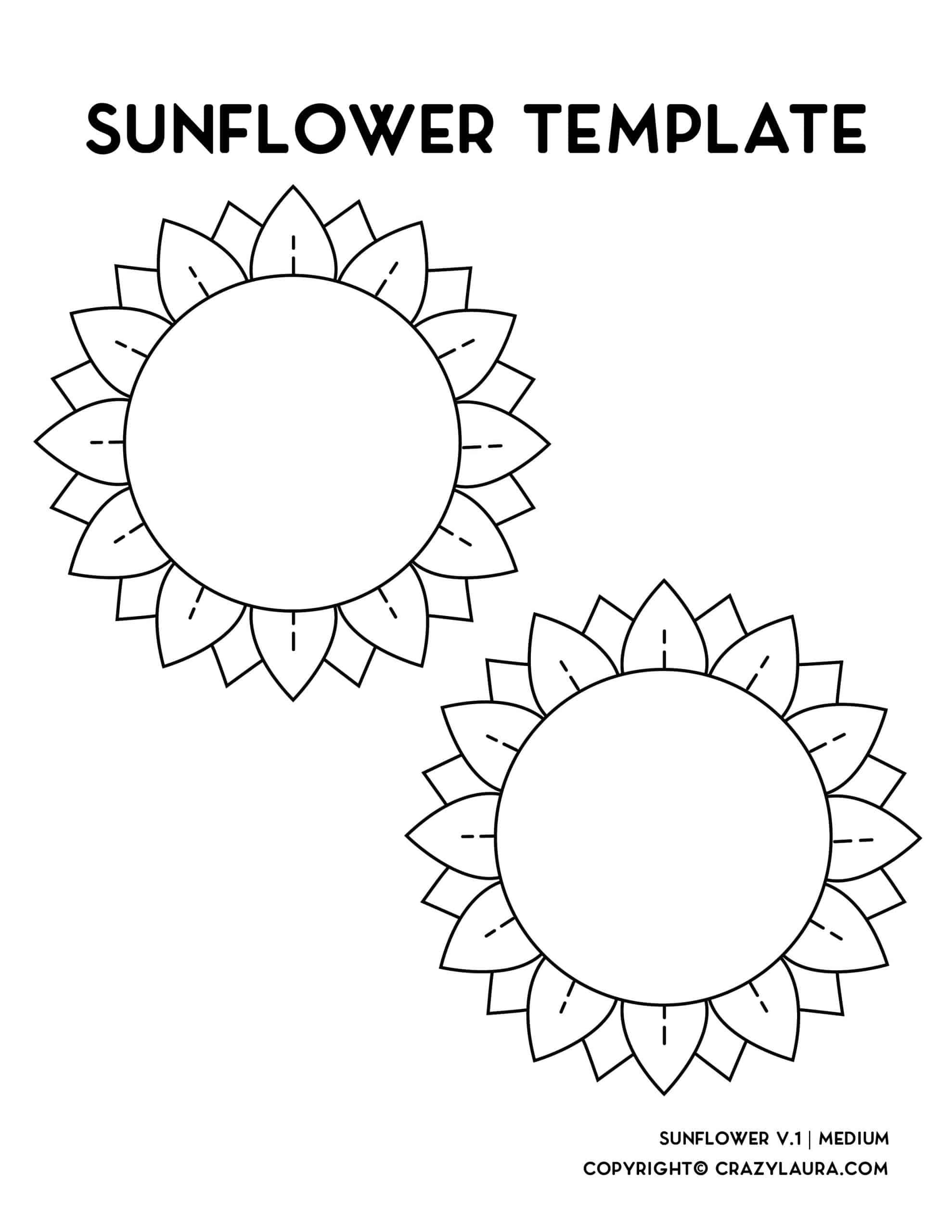 craft stencil for flower shape