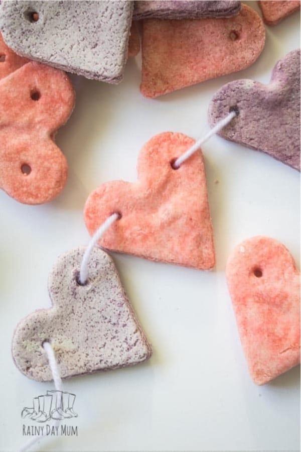 salt dough preschooler craft for valentines day
