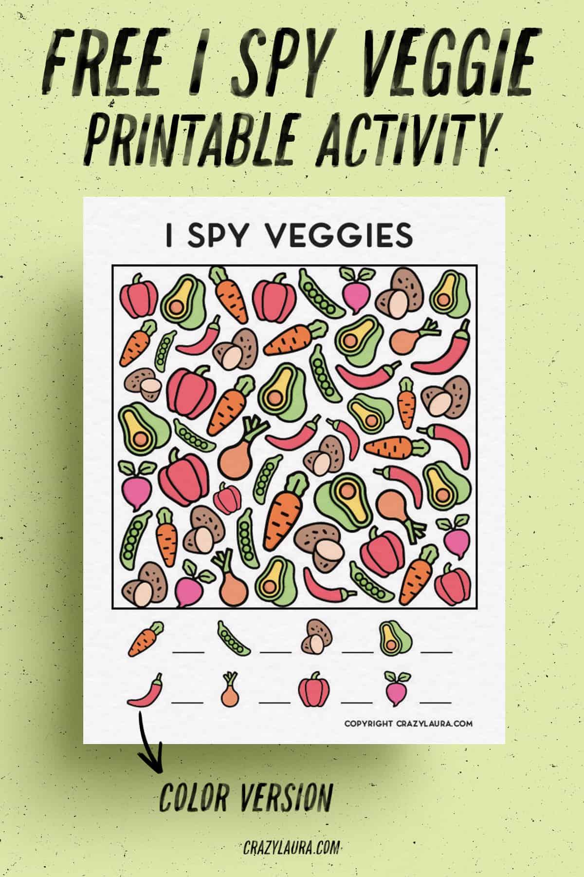 kids i spy veggie edition