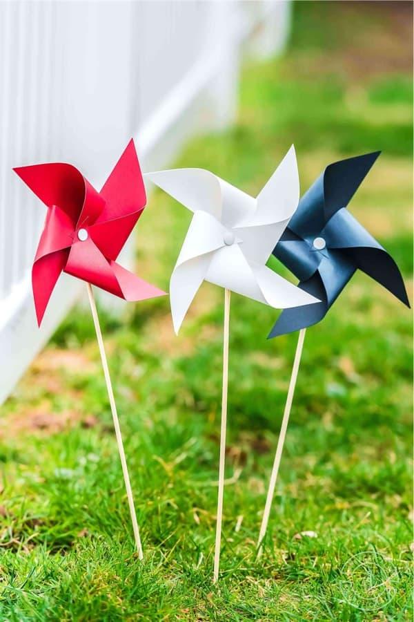 summer time pinwheel craft tutorial for kids