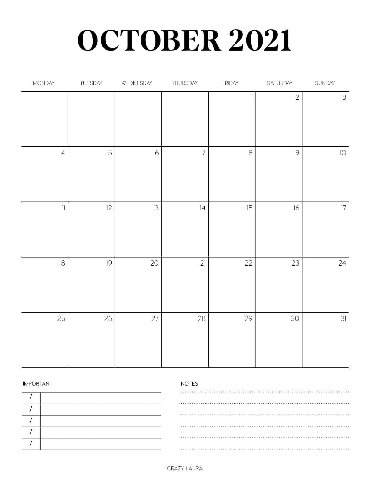 vertical printable calendar pages