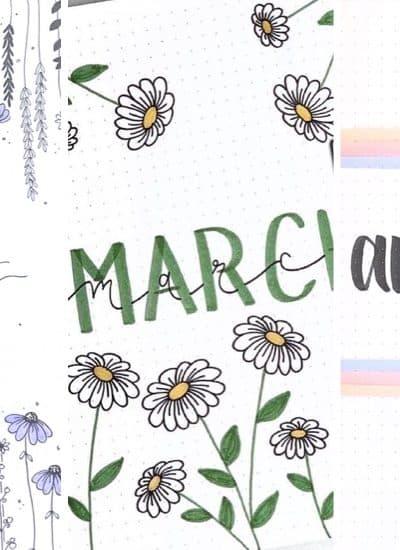 floral bujo cover inspiration