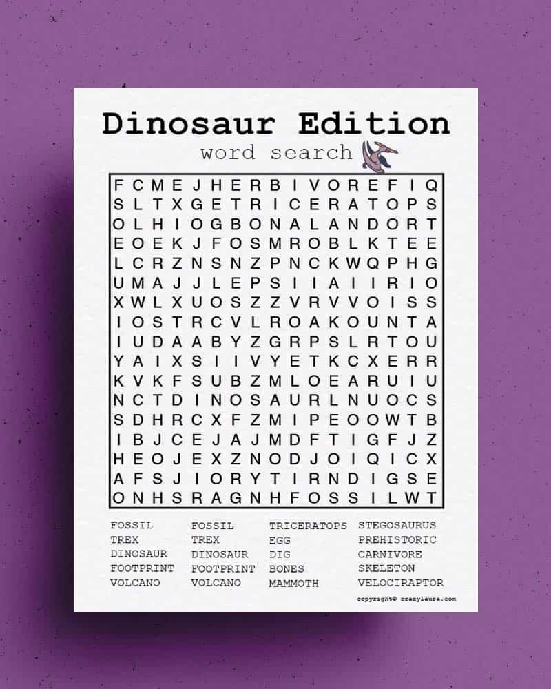 dinosaur activity sheet for kids