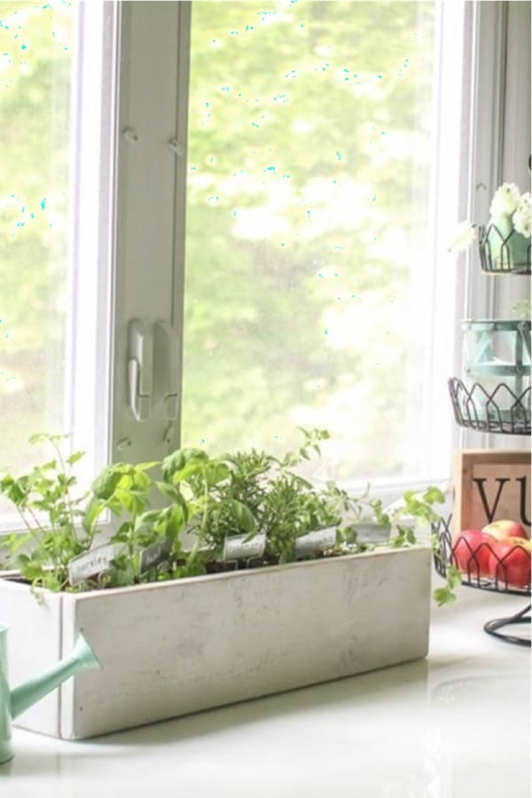 counter top herb planter box tutorial