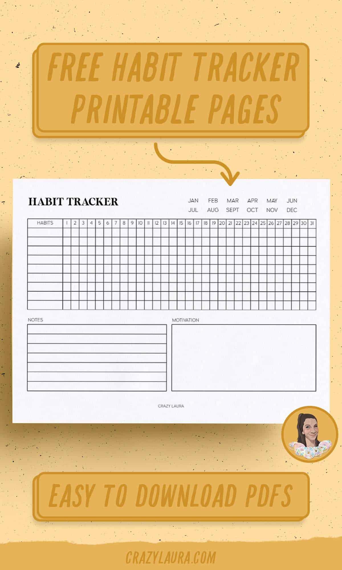 free habit tracker templates
