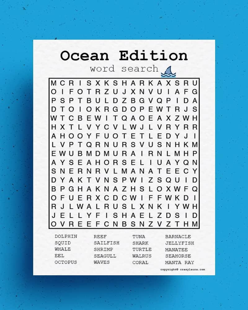 free ocean theme printable activity