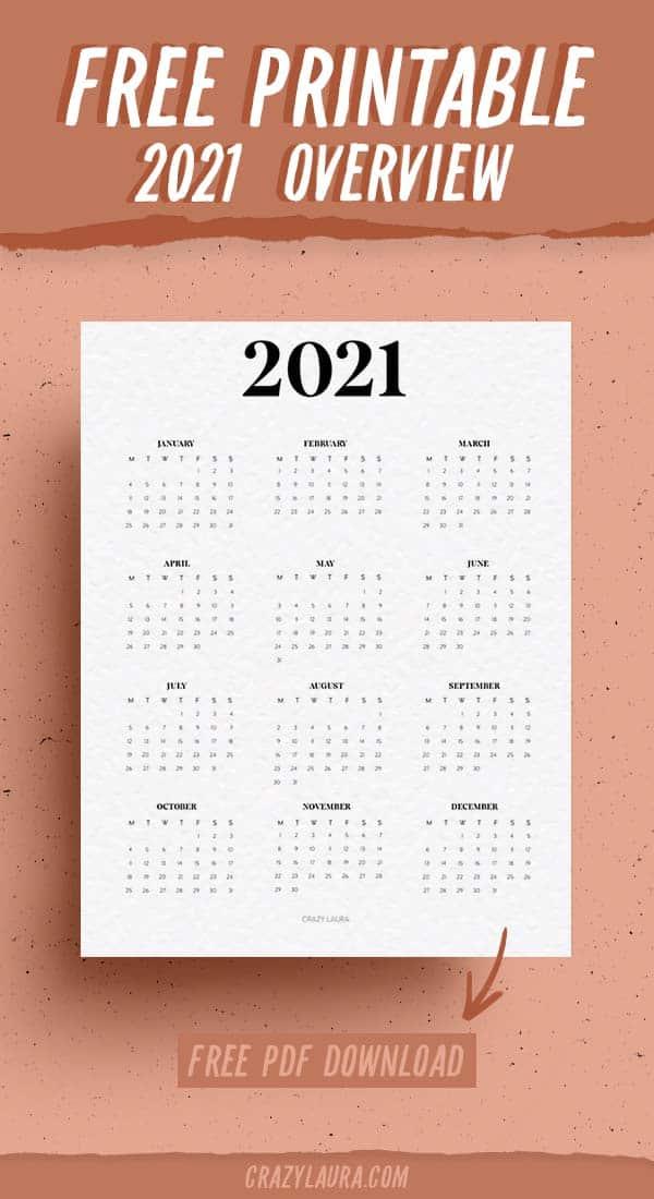free printable calendar for 2021