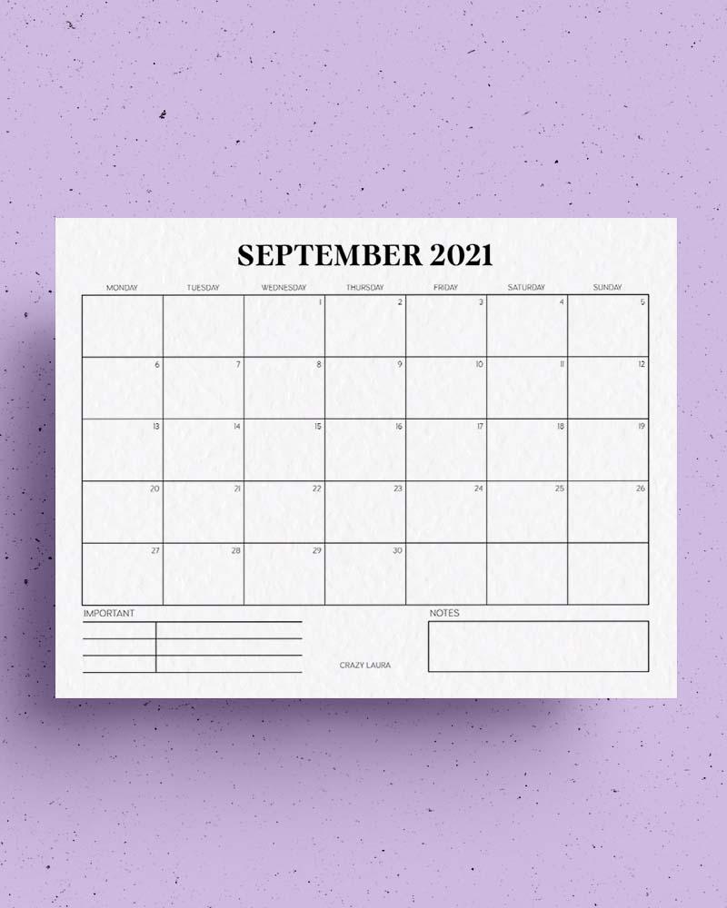 free calendar printables for 2021