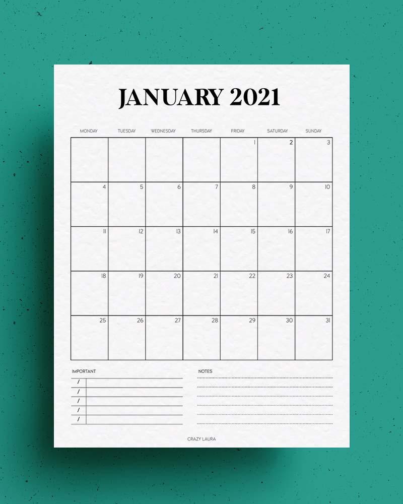 free vertical calendar download