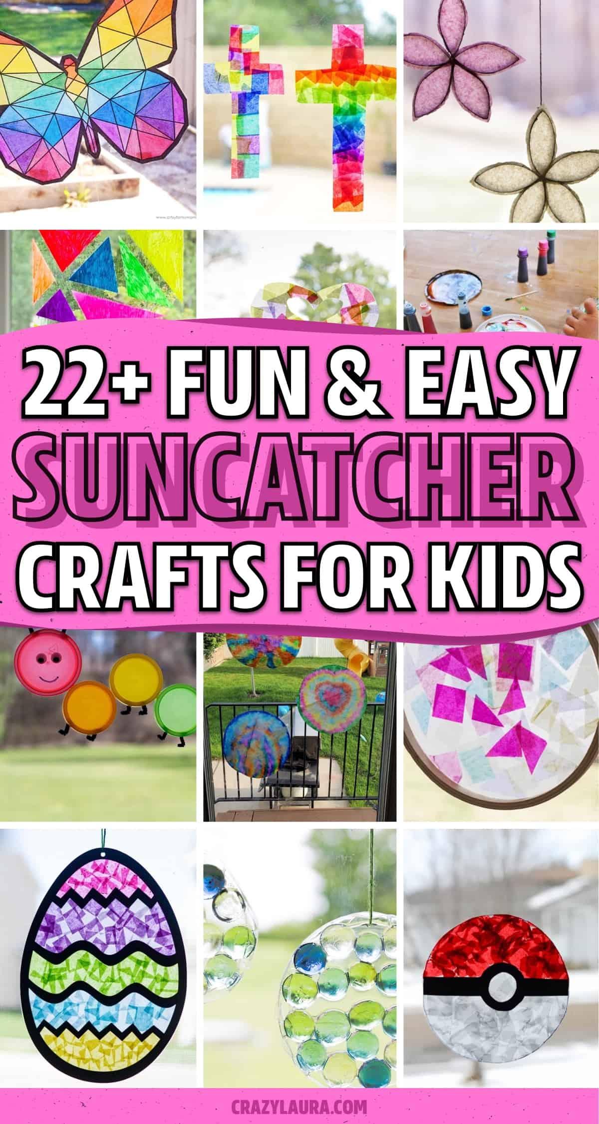 do it yourself suncatcher crafts