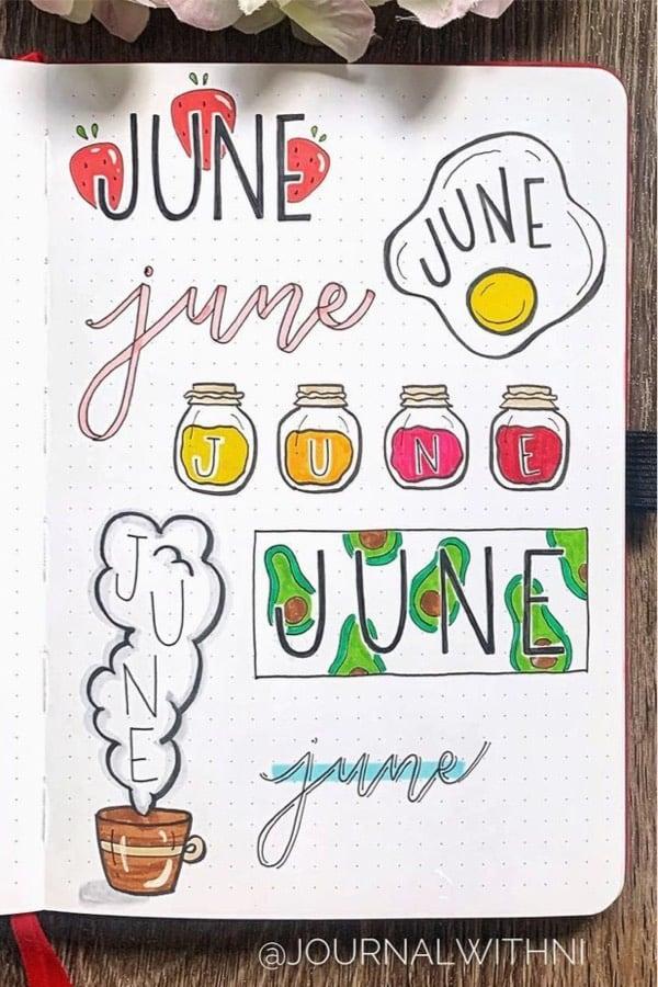 june header inspo with avocado