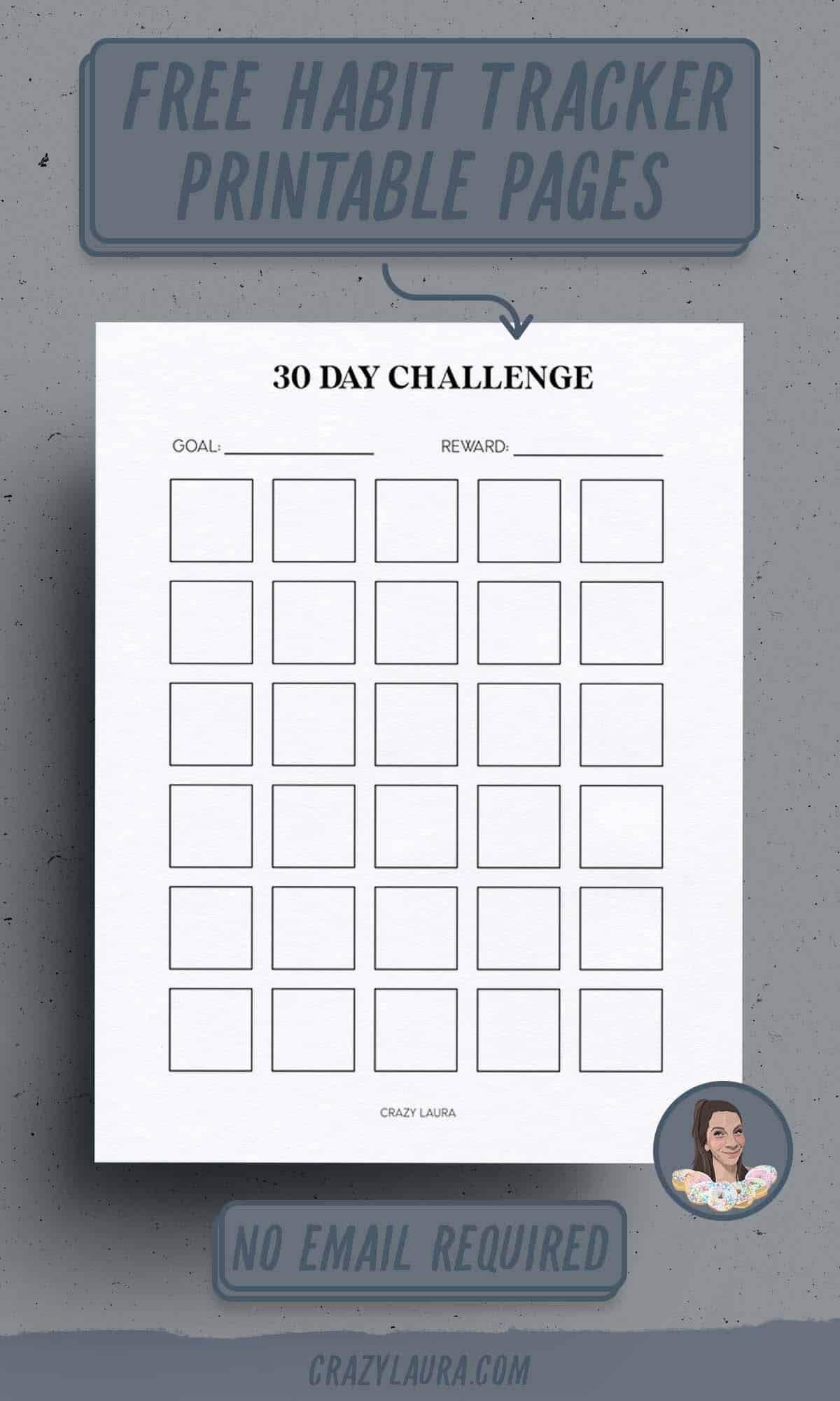 30 day challenge tracker