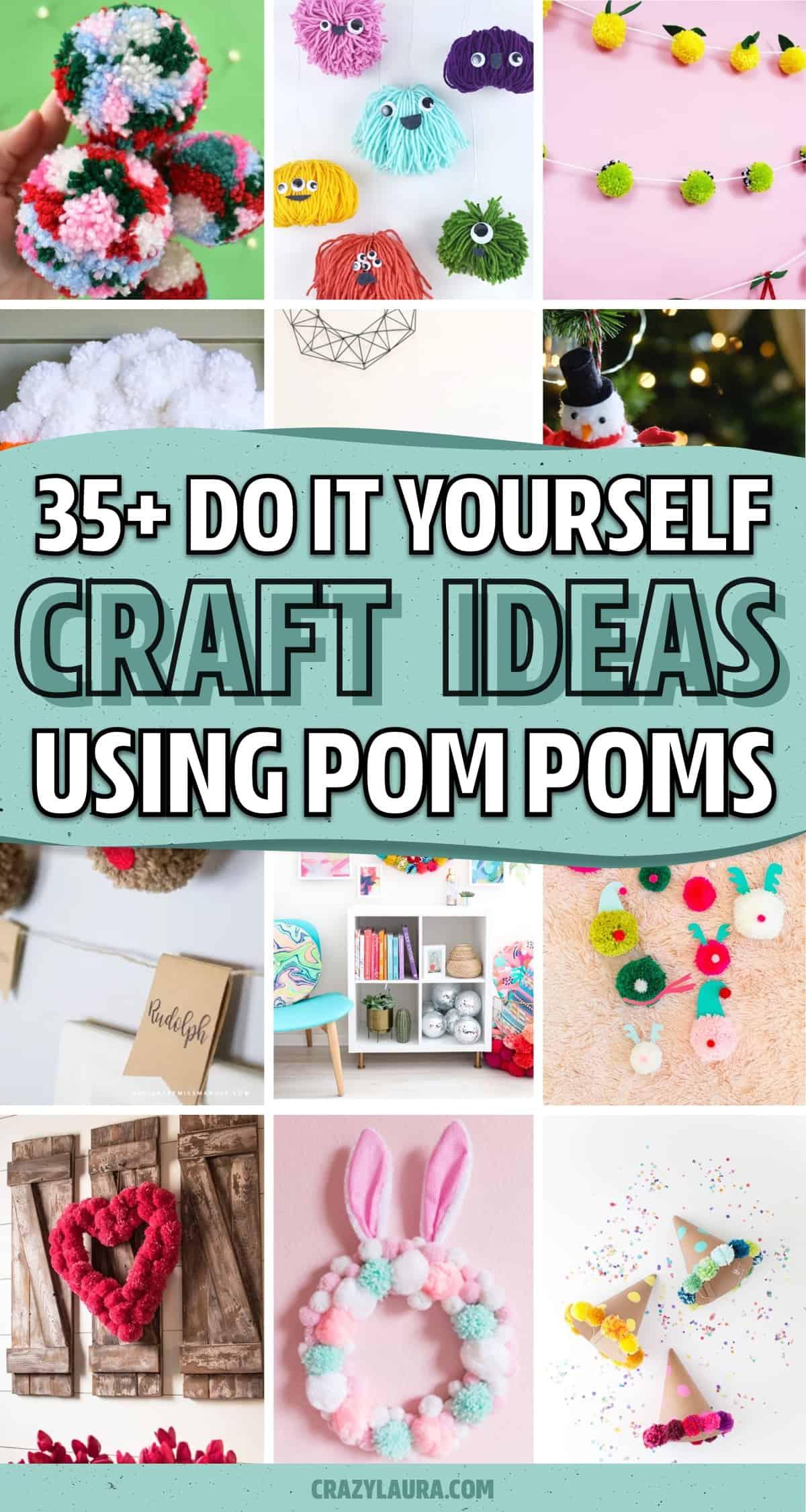 quick and easy pom pom crafts