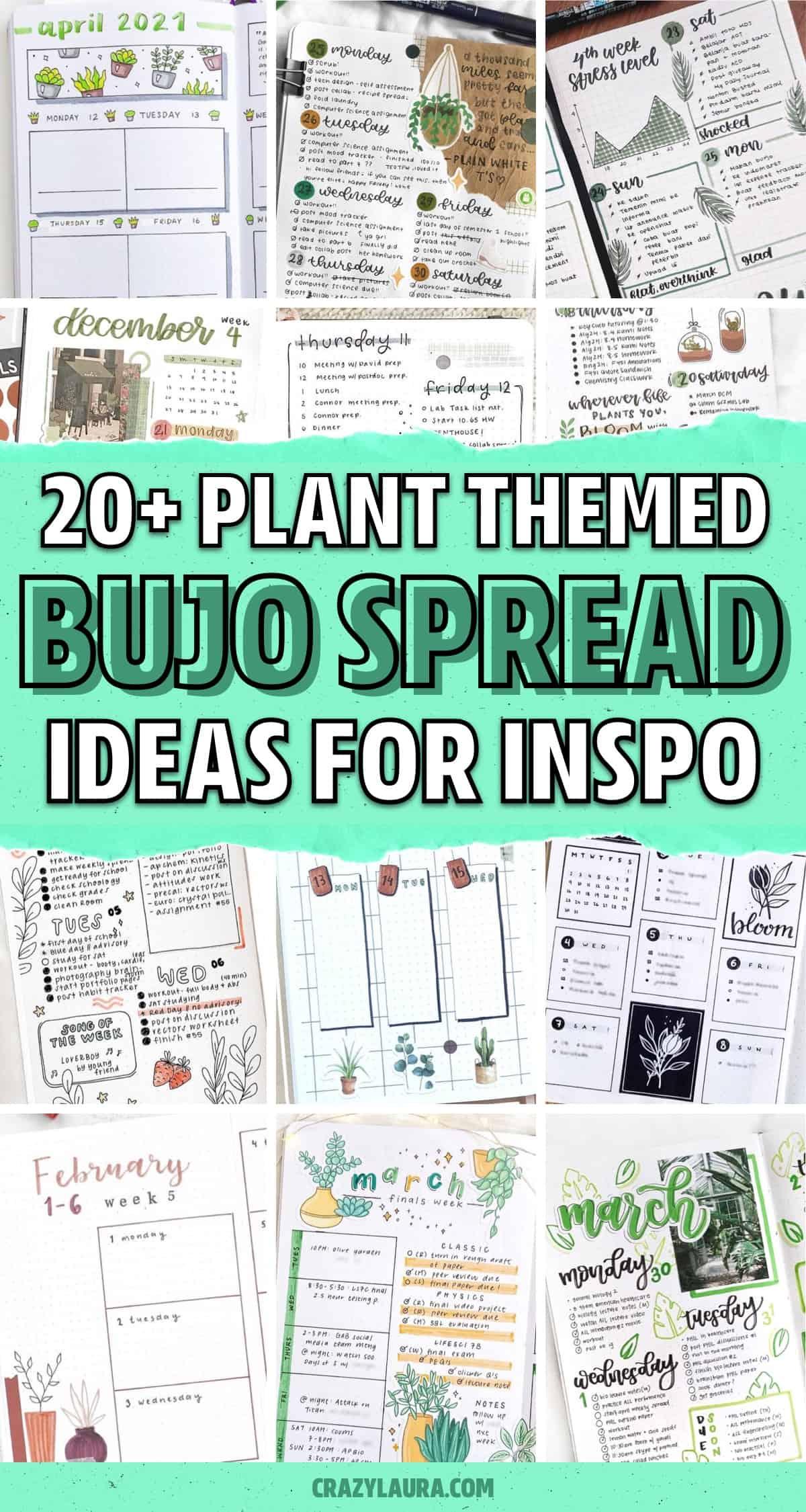 best plant bujo spread ideas