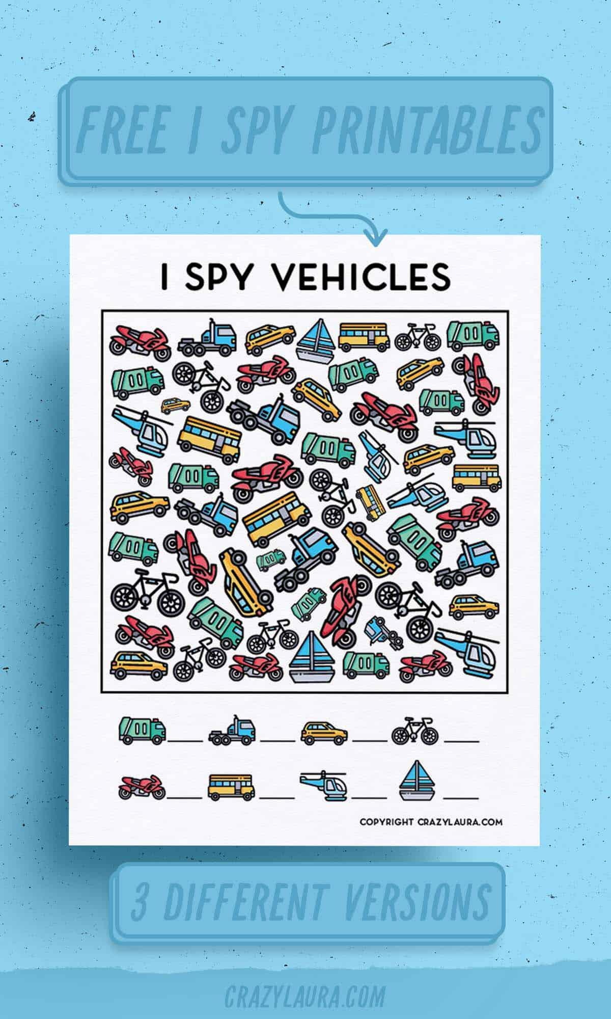 free to print car I spy