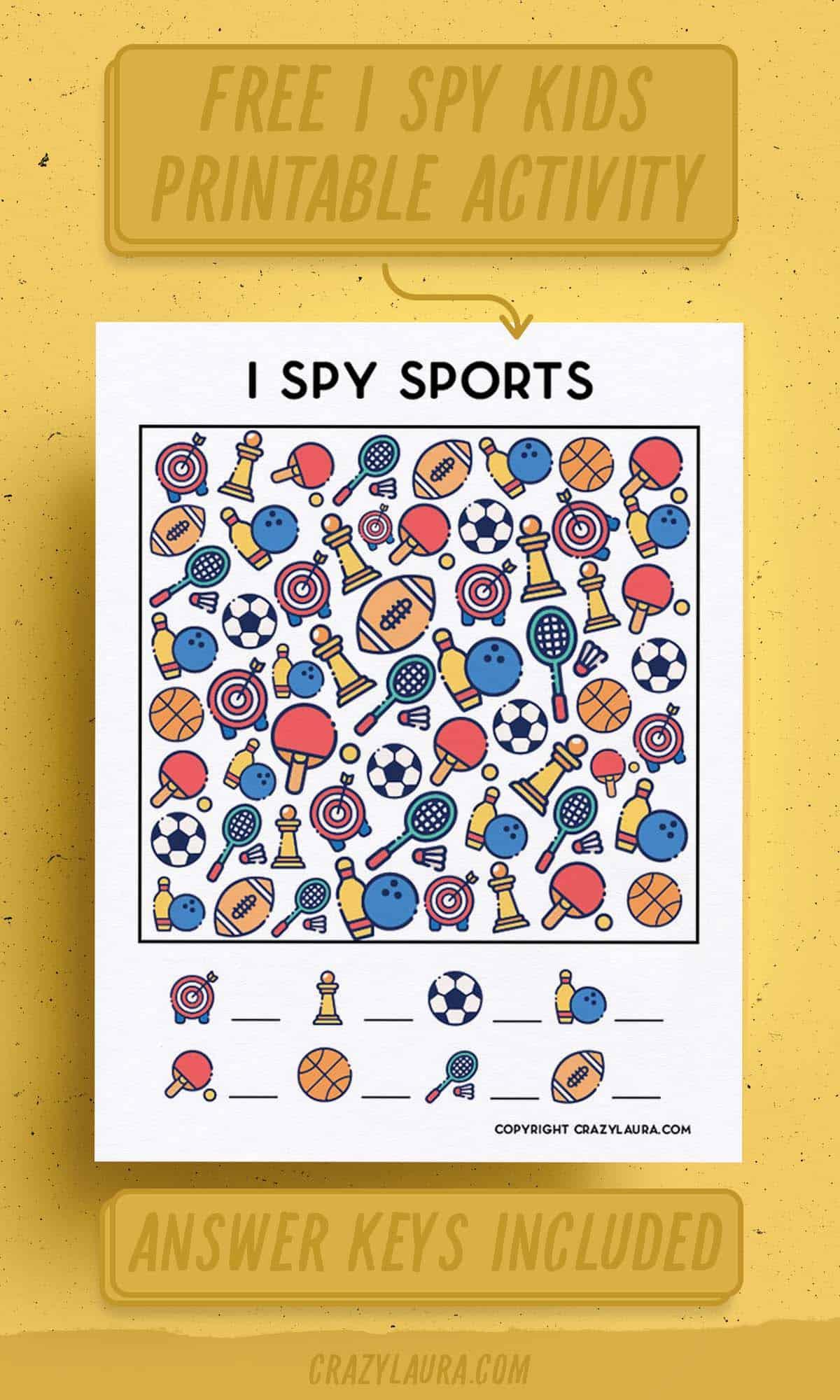 i spy sports activity sheets for free