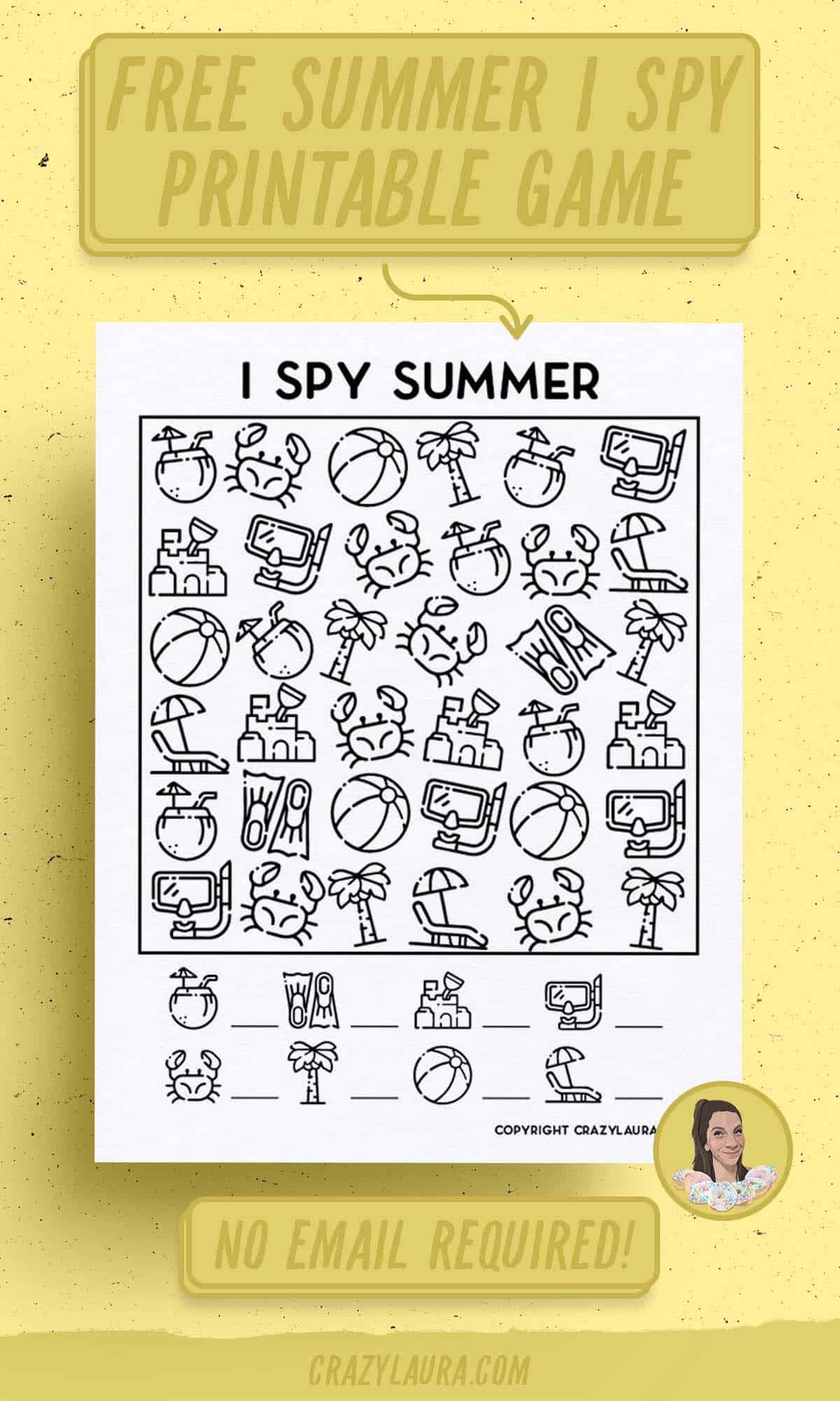 free summer activity sheets