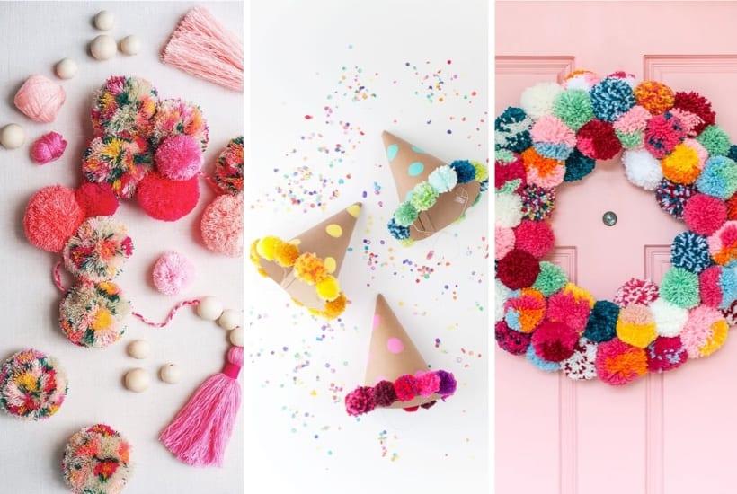 35+ Best DIY Pom Pom Crafts & Tutorial Ideas