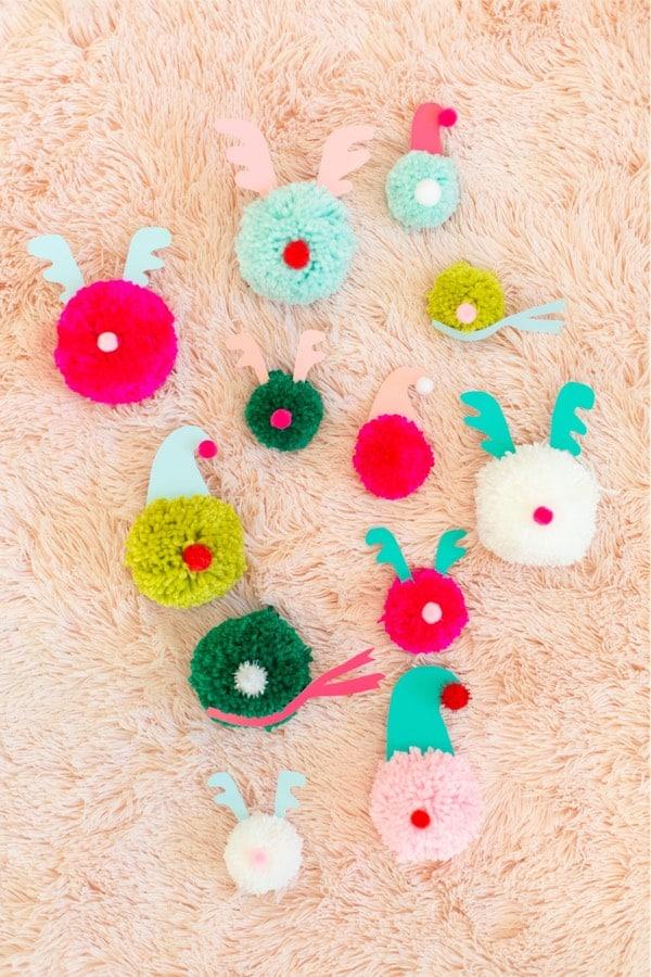 diy yarn holiday ornament craft tutorial
