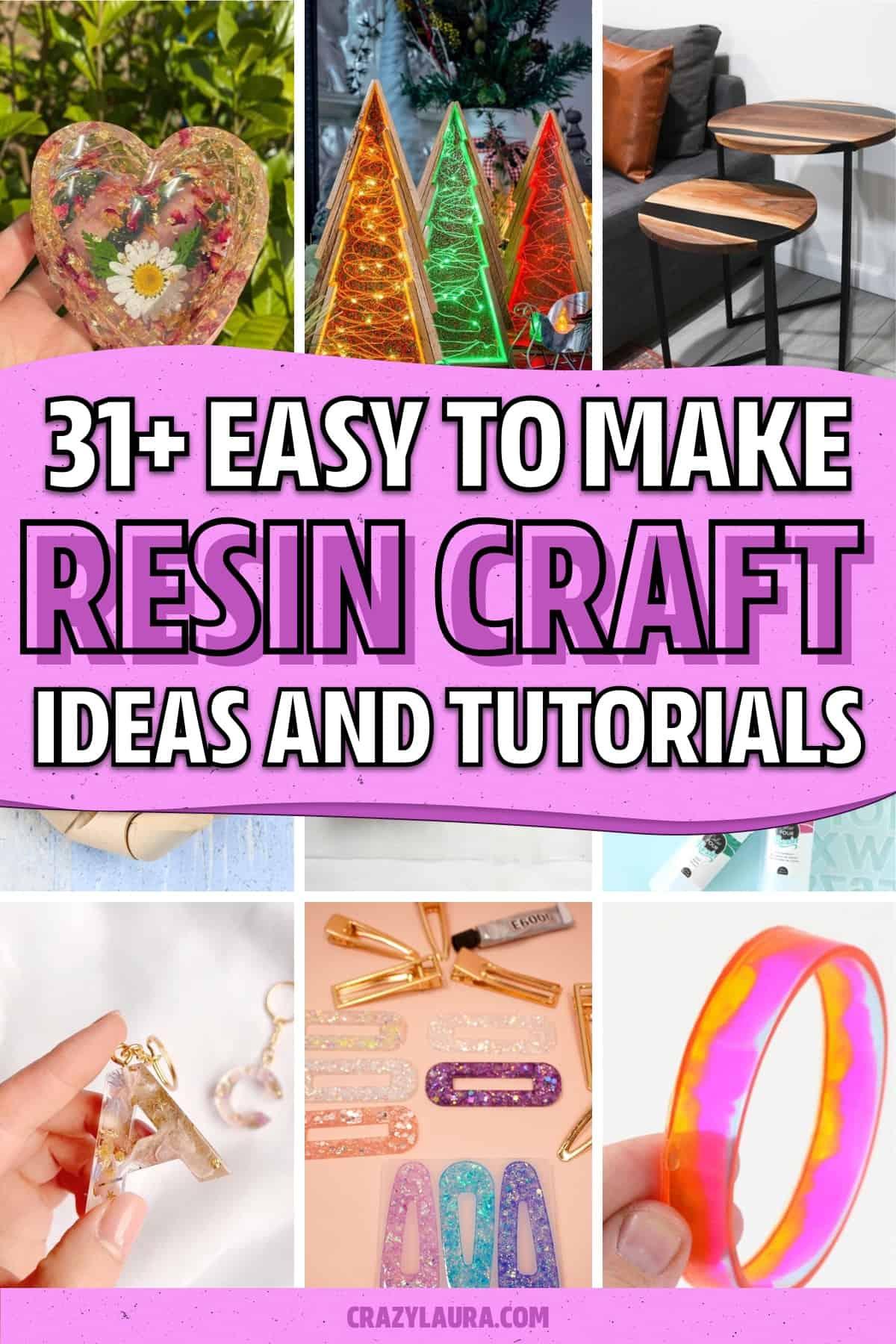 resin craft ideas and tutorials