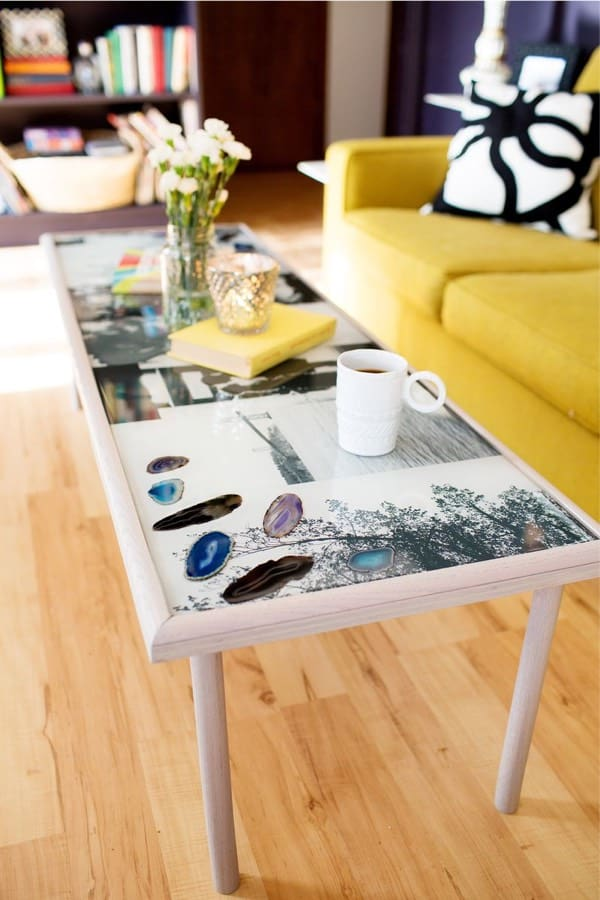 diy coffee table with resin top