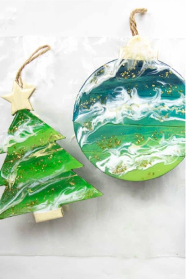 diy ornaments made from diy resin
