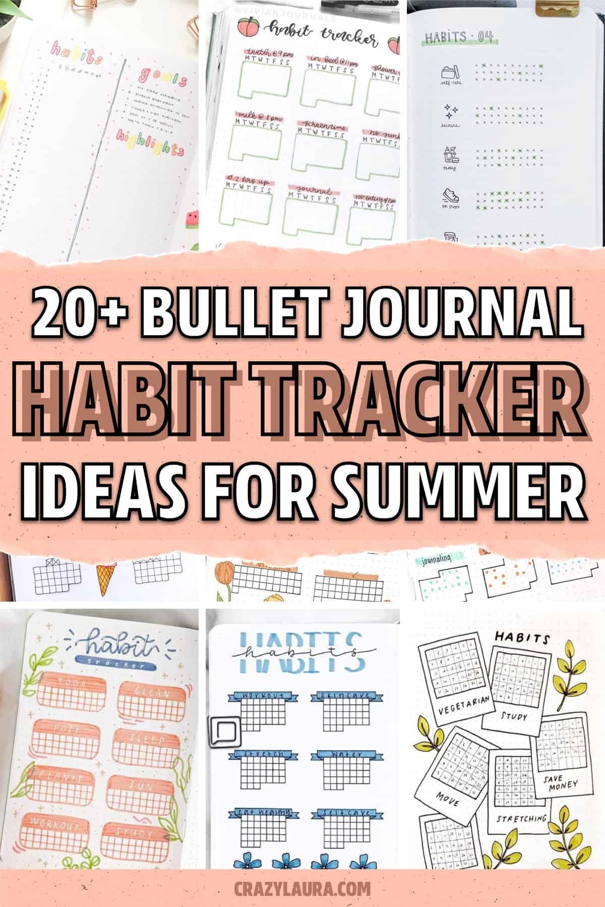 best summertime journal habit trackers