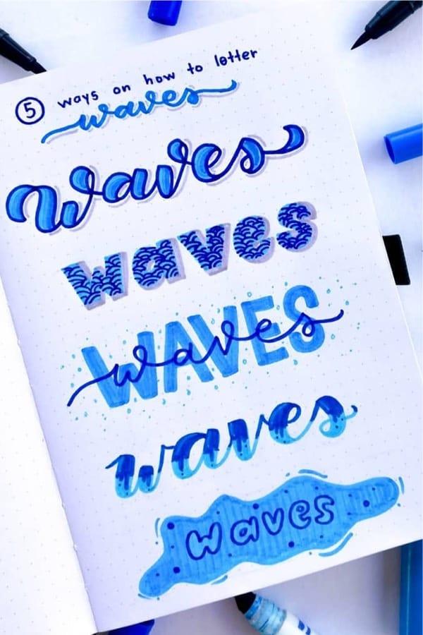 creative lettering for june bullet journals