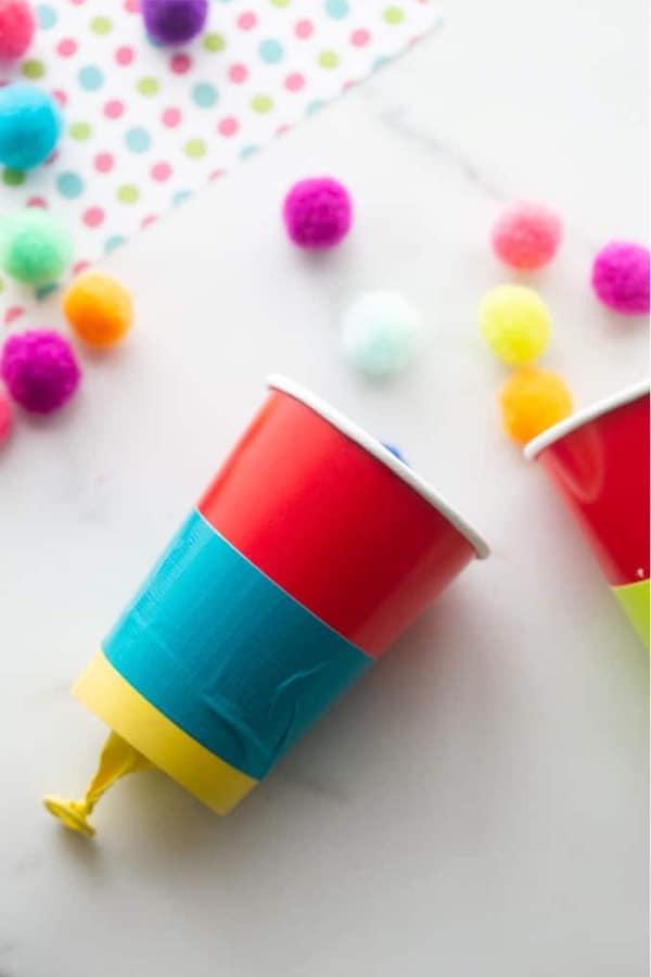kids craft with yarn balls