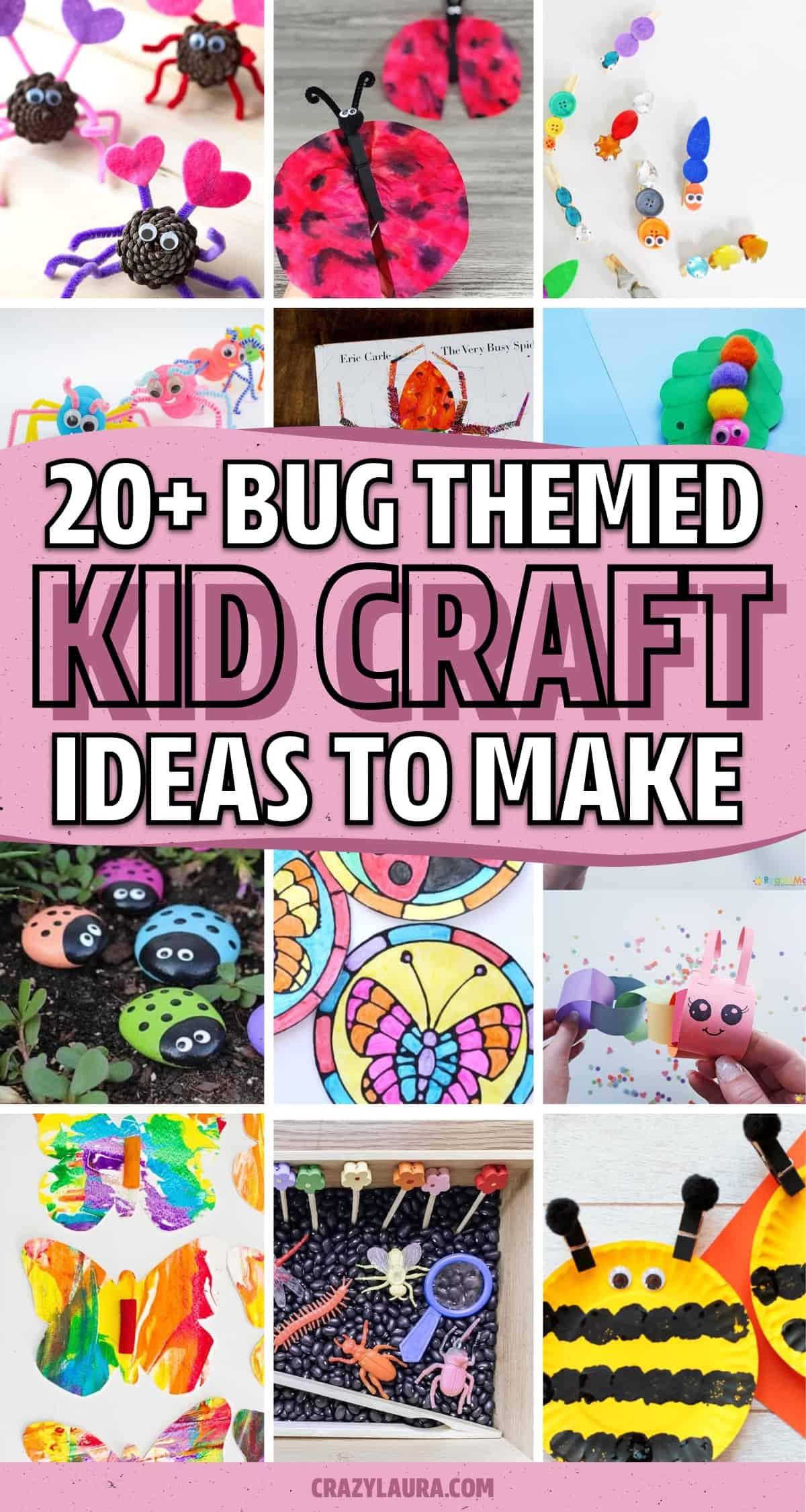 craft ideas making bugs