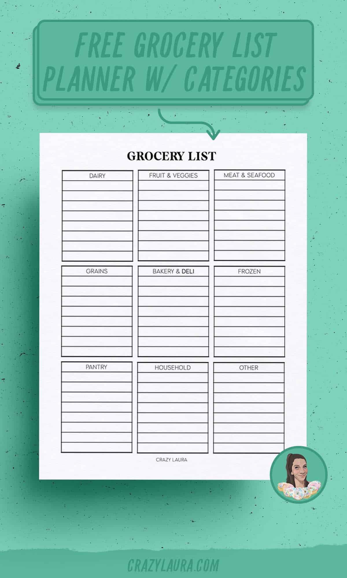 free food list planner