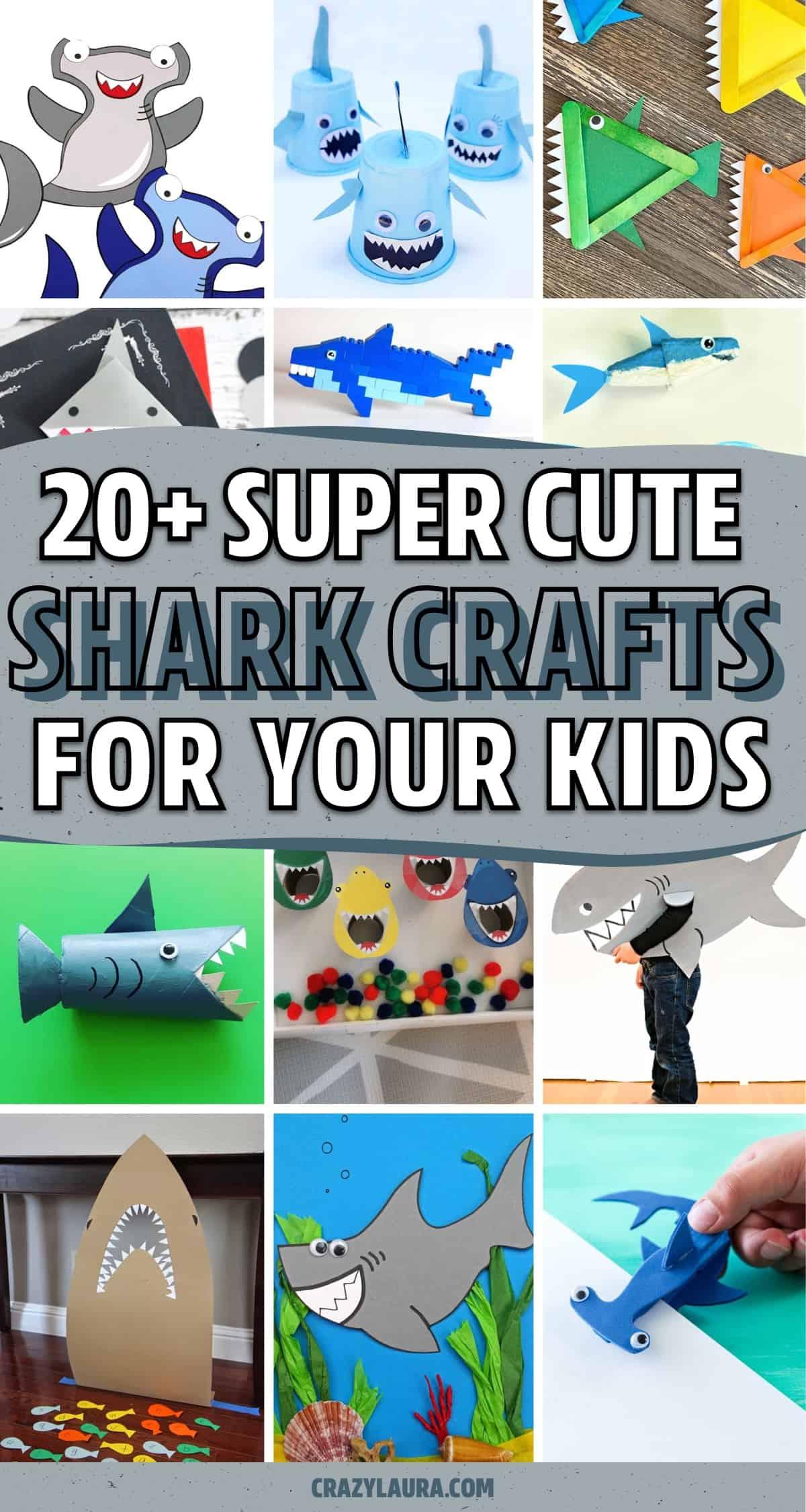 creative shark themed crafts