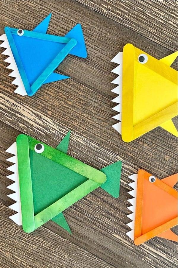 easy shark kids craft