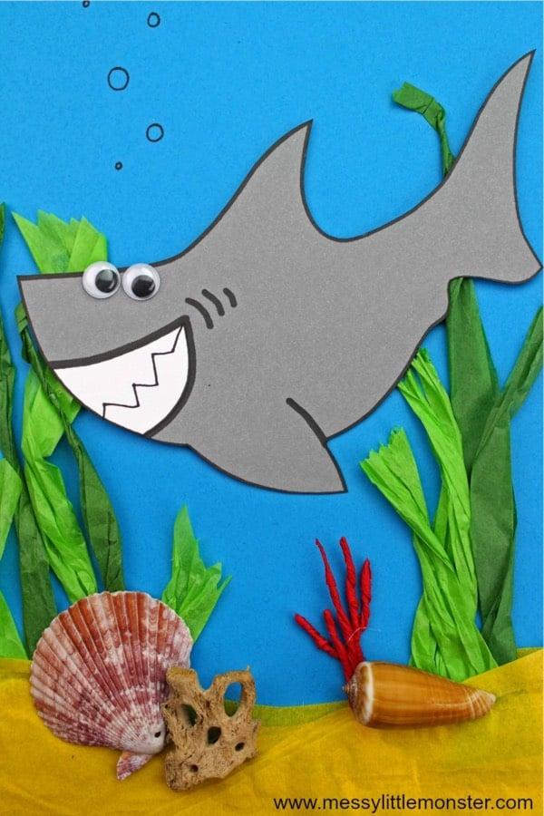 diy ocean shark craft
