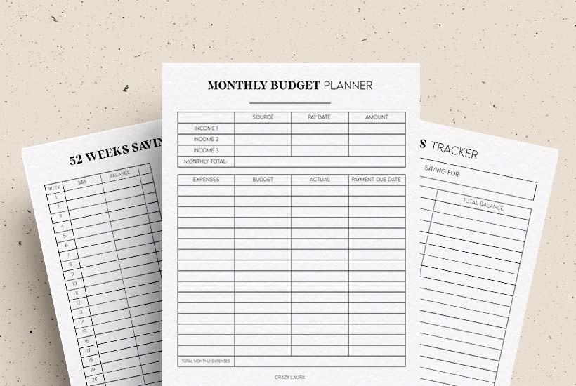 Free Budget Tracker & Savings Planner Printable