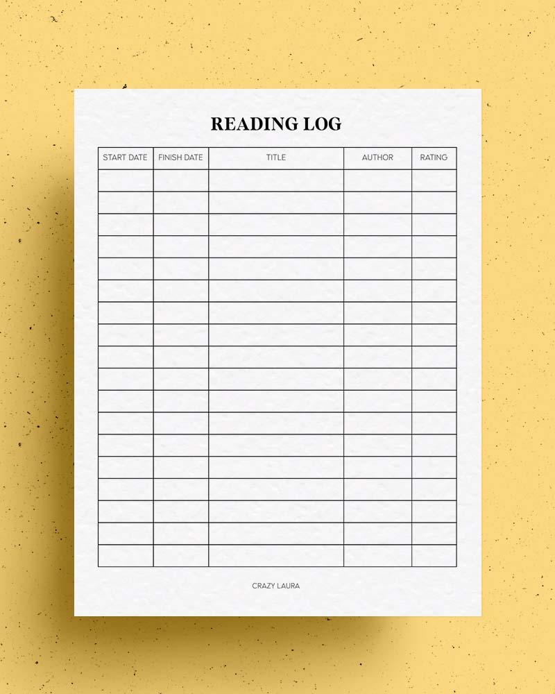 free kids reading  tracker