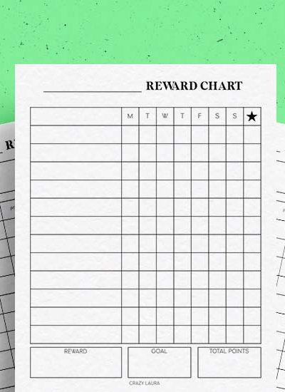 chore chart page inserts