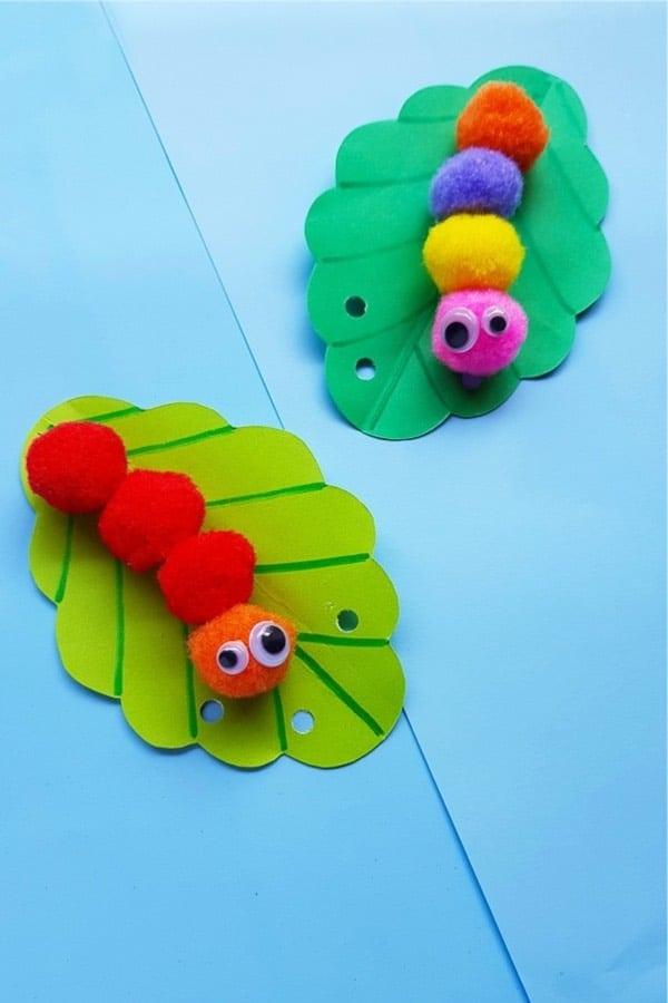 simple caterpillar craft idea