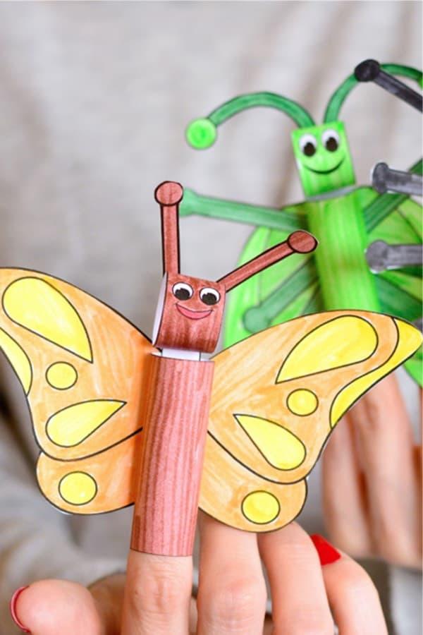 creative bug finger puppet craft