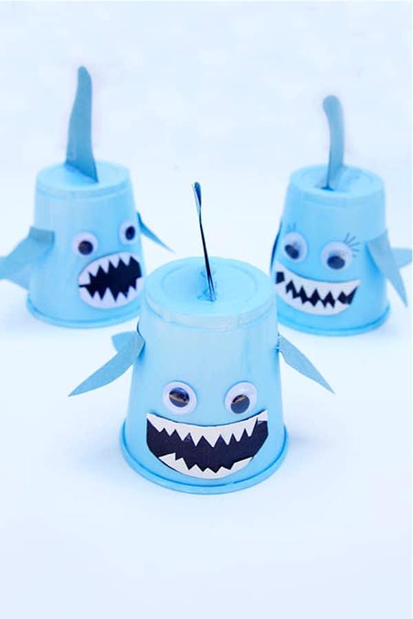 kids craft ideas making sharks